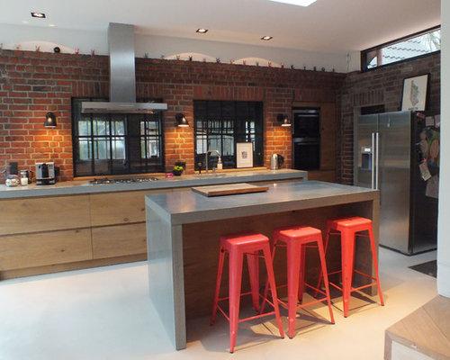 75 most popular medium sized industrial kitchen design - Medium sized kitchen design ideas ...