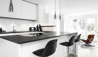 Black & White - Küchenblock mit Bartresen