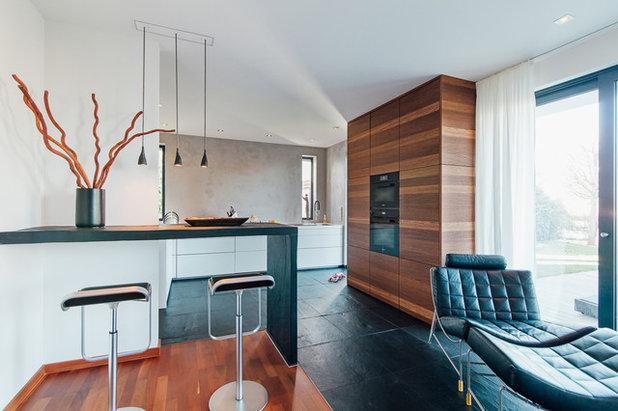 Wohnlich und minimalistisch: Diese Küche verbindet Gegensätze