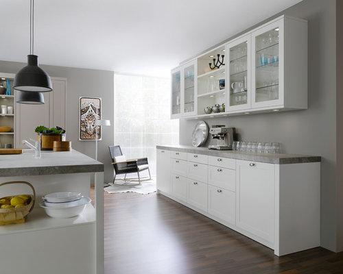 Cucina con ante di vetro Stoccarda - Foto e Idee per Ristrutturare e ...