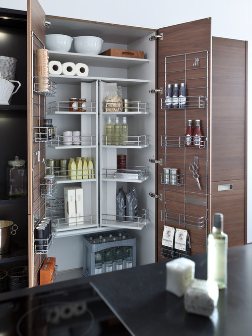 Modern kitchen pantry design ideas remodel pictures houzz for Modern kitchen pantry