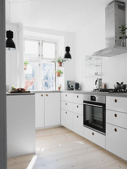 skandinavische küchen mit betonarbeitsplatte ideen & bilder | houzz