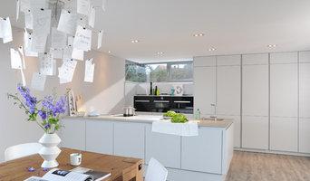 Die offene Küche mit viel Licht und Stauraum