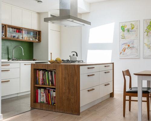 wohnk chen mit k chenr ckwand in gr n ideen design bilder houzz. Black Bedroom Furniture Sets. Home Design Ideas