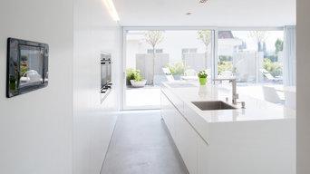 Ein Haus in der Schweiz: dezentes Design und HI-MACS®