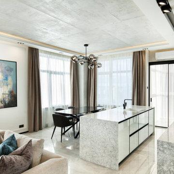 Elegante Wohnküche