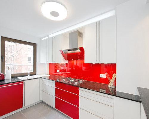 Rote Küche - Ideen & Bilder | HOUZZ