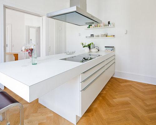 geschlossene k chen mit halbinsel ideen bilder houzz. Black Bedroom Furniture Sets. Home Design Ideas