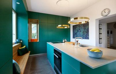 Drei Küchen im Detail – von farbenfroh bis kompakt