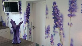 Fototapete Lavendel Feld