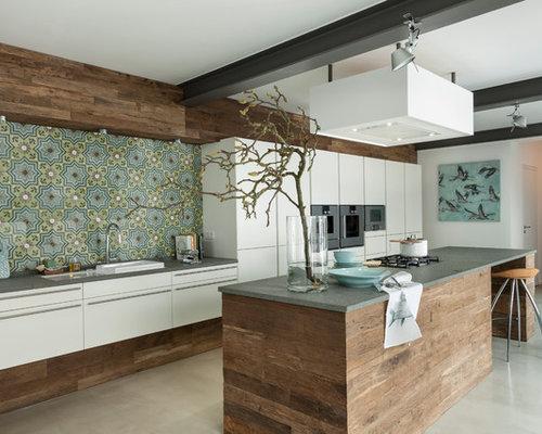 Tapeten küche ideen  Tapeten Küche - Ideen & Bilder | HOUZZ