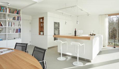 Ein weißer Küchentraum mit verstecktem Stauraum