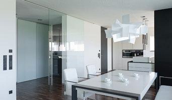 großes Glaselement, raumhohe Tür - Wohnbereich