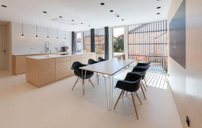 5 Küchen mit Holz – mal mehr mal weniger