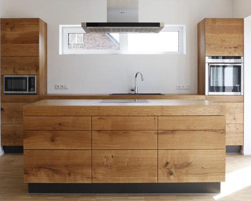 k chen mit hellem holzboden ideen bilder houzz. Black Bedroom Furniture Sets. Home Design Ideas