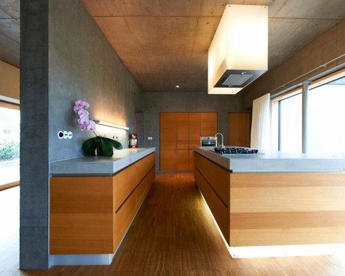 Betonarbeitsplatte Küche küchen mit betonarbeitsplatte ideen design bilder houzz