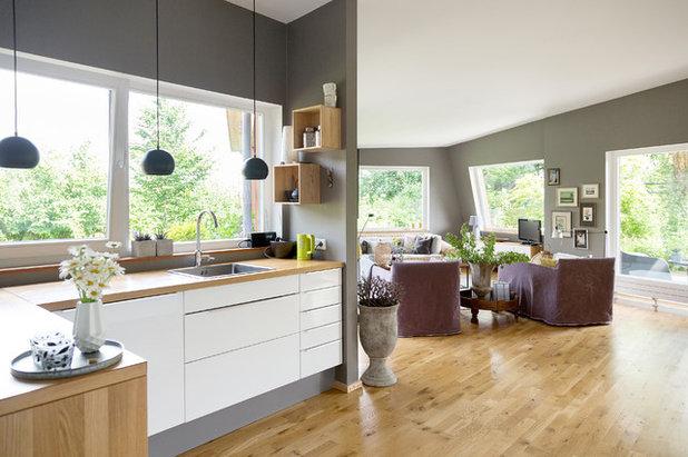 houzzbesuch moderner holzbungalow im gr nen bei berlin. Black Bedroom Furniture Sets. Home Design Ideas