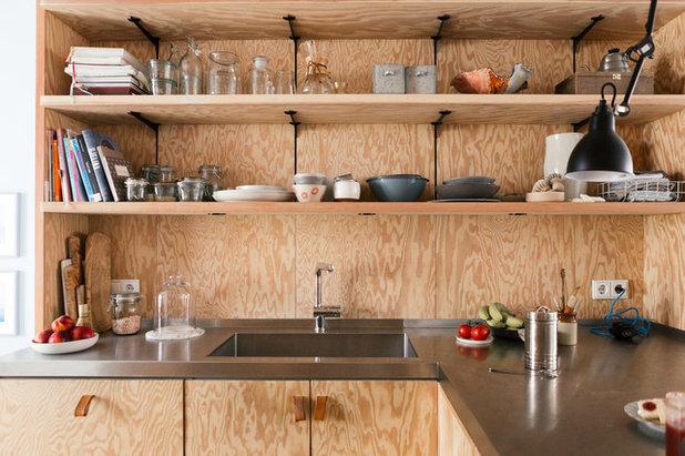 Zoom sur les nouvelles fa ades de cuisine en panneaux de bois for Cuisine en contreplaque