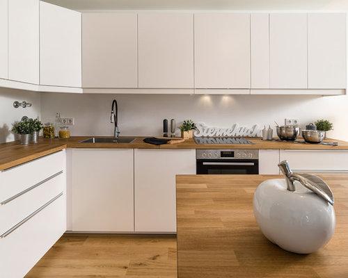Küchen modern l-form weiss  Kleine Küchen in L-Form Ideen, Design & Bilder | Houzz