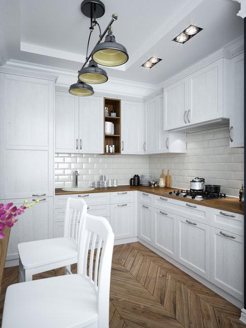 Cucina con parquet scuro Brema - Foto e Idee per Ristrutturare e ...