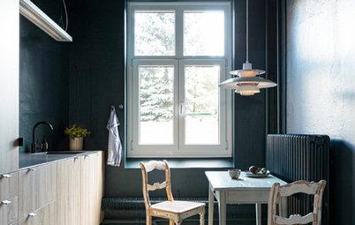 Eintauchen in die Pause: Eine blaugrüne Küche in Kiel