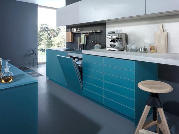 Eine Küche in Blau: 16 Ideen von Himmelblau bis Ultramarin