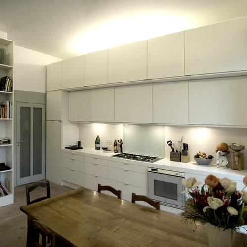 Küche mit Laminat-Arbeitsplatte - Ideen & Bilder