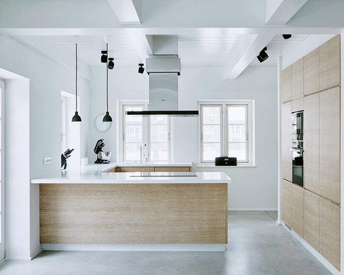moderne k chen in u form ideen bilder houzz. Black Bedroom Furniture Sets. Home Design Ideas