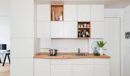tuersysteme kuechenoberschraenke platzsparend, ratgeber kleine küchen: tipps & trends, Design ideen
