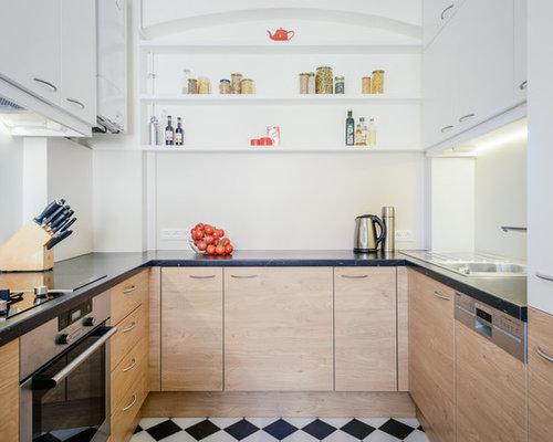 Windowless kitchen houzz for Windowless kitchen sink