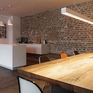 Cucina con pavimento in laminato Monaco di Baviera - Foto e Idee per ...