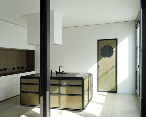 k chen mit schr nken im used look ideen design bilder houzz. Black Bedroom Furniture Sets. Home Design Ideas