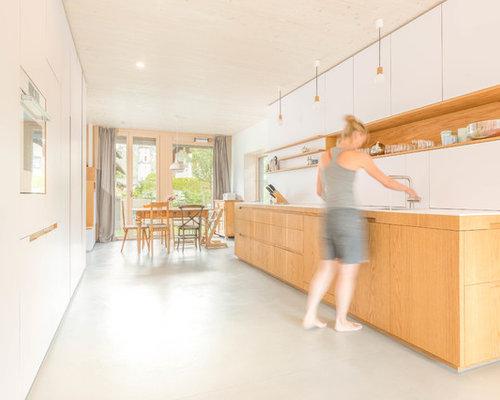Wohnküche mit Mineralwerkstoff-Arbeitsplatte - Ideen & Bilder   {Mineralwerkstoff arbeitsplatte 14}