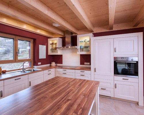 Küche Landhausstil landhausstil küchen mit terrakottaboden ideen design bilder houzz