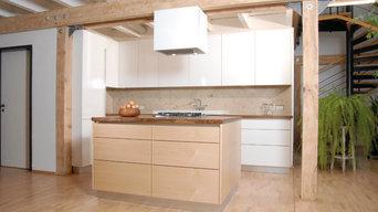 Küche in Hochglanz weiß