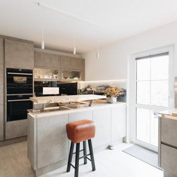 Küche in Spachtelbeton