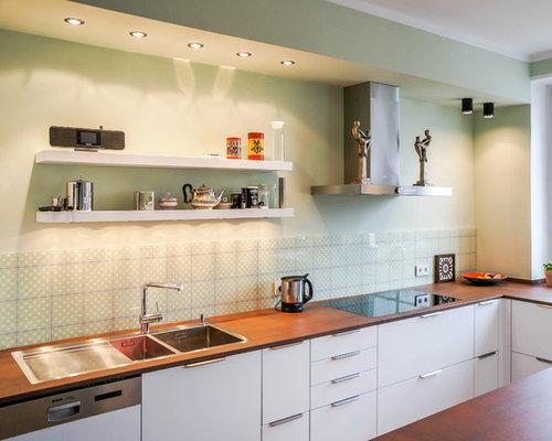 Küchen mit grüner Küchenrückwand Ideen & Bilder   HOUZZ