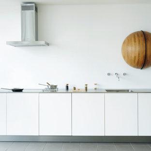 Mid Sized Modern Kitchen Ideas   Mid Sized Minimalist Single Wall Kitchen  Photo