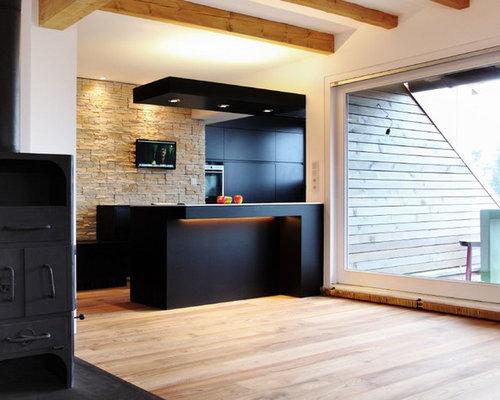 Moderne Küchen mit schwarzen Schränken Ideen, Design & Bilder   Houzz