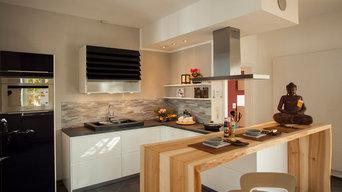 Küche mit Massivholz