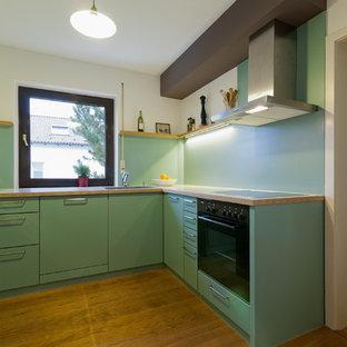 Küche mit Schleiflackfronten