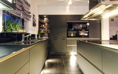Altes Material, neu genutzt: Glas in der Küche