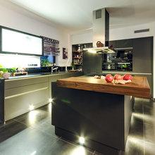 Küche schwarz matt - Modern - Küche - Frankfurt am Main ...