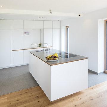 Küche und Wohnraum perfekt miteinander verbunden