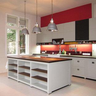 Moderne Küchen Mit Rückwand Aus Keramikfliesen Ideen Design