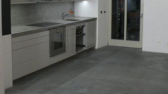 Küchenarbeitsplatten, Rückwand und Küchenboden in Hamburg