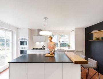 Küchenblock Granit mit Holztheke