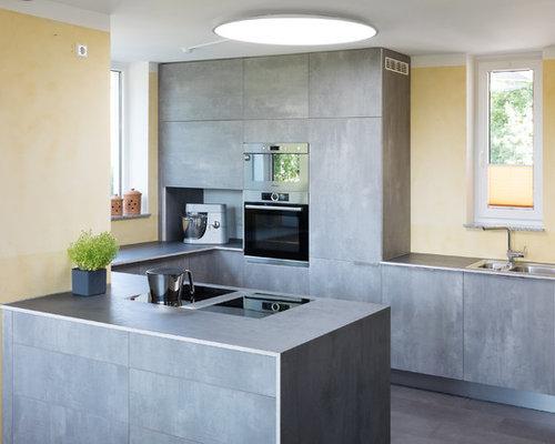 Kleine Küchen mit grauen Schränken Ideen, Design & Bilder | Houzz