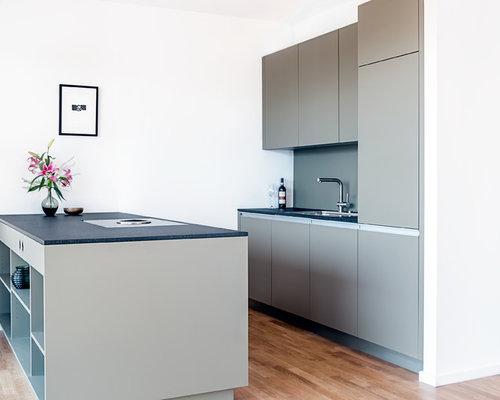 zweizeilige k chen mit halbinsel ideen bilder houzz. Black Bedroom Furniture Sets. Home Design Ideas
