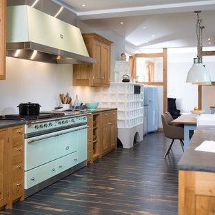 kuchenherd im landhausstil design ideen holz, landhausstil küchen mit rückwand aus holz ideen, design & bilder | houzz, Design ideen